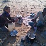 sortie dans le désert organisée par Fifu (thé Chai)