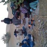 sortie dans le désert organisée par Fifu (diner dans le désert)