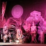 Mayan Culture show at the hotel