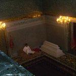 Mausoleum of Mohammed V - Gentleman Reading Koran