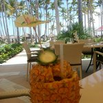 Drink from Pineapple Fest (Saturdays) in Los Corales dining room