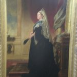 Queen Victoria welcoming the visitors to her museum