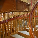 Stairway down to public conveniences