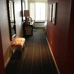 Entree in de hotelkamer