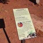 wayside on Ute Garden Interpretive Trail, Colorado National Monument, Sep 2013