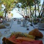 Breakfast on the resort terrace