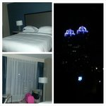 The room and my view at night from rm 425