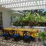 table set for lunch at our villa