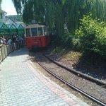 Depart avec le petit train
