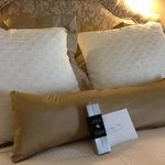 Wonderful King Bed with chocolates and note from Old Mill