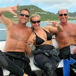 Topside fun with dive buddies