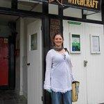 My wife an aspiring witch :-D
