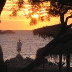 Sunrise at Perissa Beach