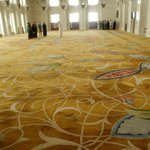 Мечеть шейха Зайда. Огромные ковры ручной работы