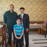With Mr. Devender Singh at the Restaurant