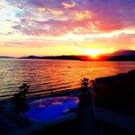 Sonnenuntergang vom Hotelzimmer aus