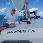 On board hawnalea with Capt Kevin