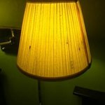Stains on the lampshade.
