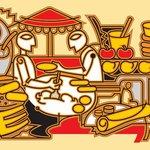 Indian Market Sketch