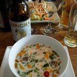 soupe de poulet au tuk tuk thaï street food