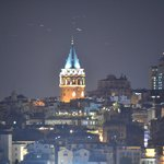Galata Tower by night from roof top deck