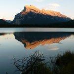 Por do sol em vermillion lakes