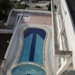 swimming pool above sea