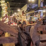 The interior is perfect for the Fort Worth Stockyards~