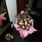 le bouquet offert lors du dîner romantique