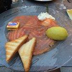 The entree - salmon