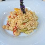 Gorgeous prawn risotto with leeks and paprika! 65K