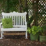 Small bench just outside the door of The Garden Room...see what I mean about attention to detail