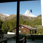 View of the Matterhorn from breakfast