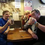 Cap, Punisher and Thor stop by Maggie Mays Belfast for some refreshment after a day of superhero