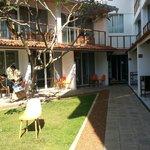 Yard of hotel