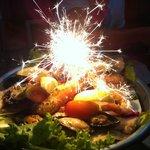 Ассорти морепродуктов (красивая подача блюда)