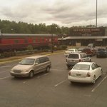 Railcar in the parking lot