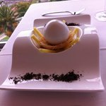 Dessert coco et glace