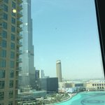View of Burj Khalifa and Fountains from balcony