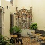Resturant courtyard