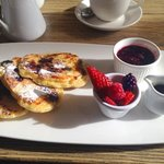 Pancakes with fresh fruit for Breakfast at Avoca