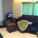 Living room in 1 bedroom suite