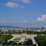 Вид на дворец от Gloriette viewing terrace
