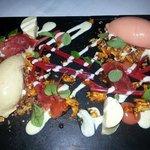 Rhubarb desert on the spring menu - yum!