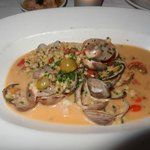 clams and shrimp appetizer.