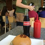 umami truffle burger with mexican coca cola