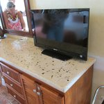 Modern TV, loved the counter tops