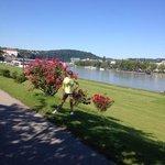 margem do Danubio em Linz, otimo lugar para correr