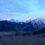 Sunrise on the hike up to Mt Elbert