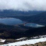 View of Twin Lakes from Mt Elbert